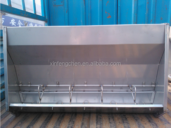 Stainless steel pig feed trough for sale