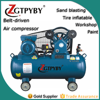 150l cheap small v belt driven air compressor 3hp for painting
