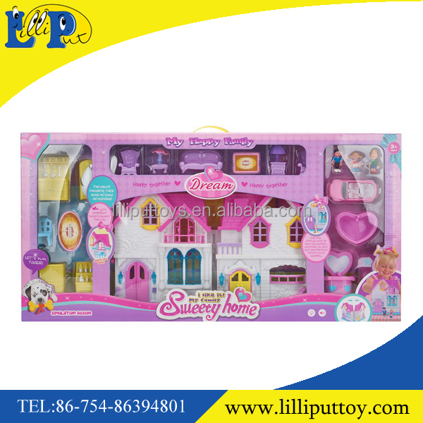 My happy family sweety home big villa house toy with light &music