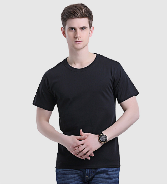 Latest Men Cotton Blank T-shirt Short Sleeve Plus Size Tee Shirt