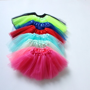 baby girl basic solid 3 layer tutu