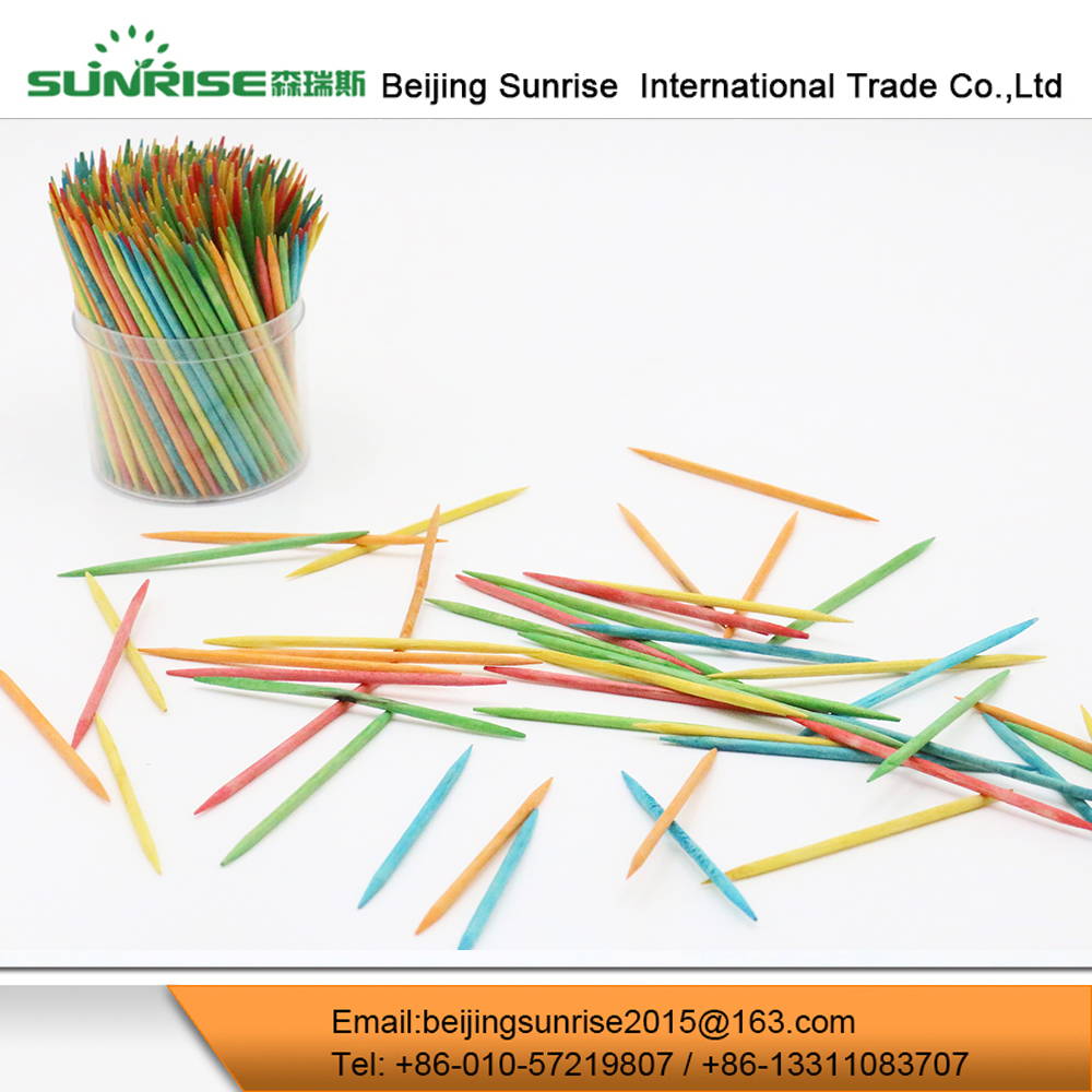 Disposable Fancy Colored Wooden Toothpicks For Sale