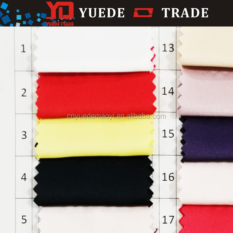 2016 New Woven Polyester Spandex satin Dyed Chiffon Fabric for ganment