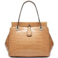 S709-A2963 Stylish ladies brand double face crocodile pattern genuine leather Exotic Bag