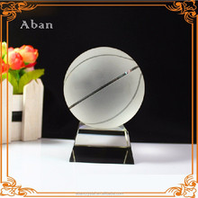 customized crystal glass sport basketball no minimum order