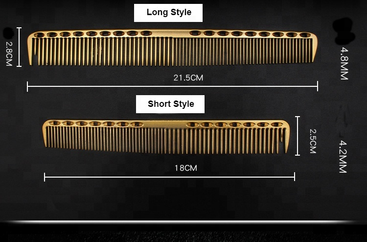 China Suppliers Barber Salon  Space Aluminum  Hair Comb