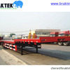 3 Axles Semi Flatbed Trailer With
