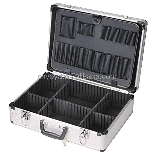 2016 Professional Custom easy carrying aluminum trolley tool case with custom foam insert