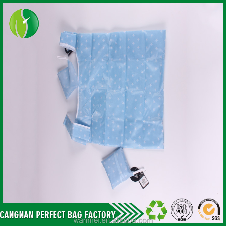 Promotional High Quality non woven sublimation Printed green foldable bag