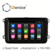 Ownice factory price quad core Android 4.4 car multimedia player for VW Volkswagen polo with RDS support dvr ipod