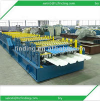 PLC control cold rolling rebar machine with electric tile cutter