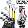 Katana 2014 model SWORD XX japan golf clubs full set Fujikura original Motore Speeder shaft specifications, include caddie bag