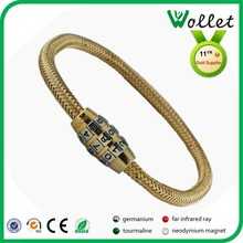 intelligent gold stainless steel number lock cuff bracelet bangle