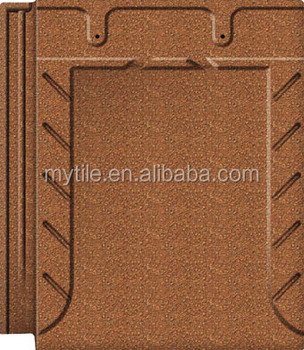 Shining Orange 280*320mm Rustic Roof Tile for House