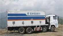 site emulsion mixing and charging truck