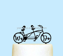 We Do Love Birds Acrylic Cake Topper Bicycle Wedding Cake Topper