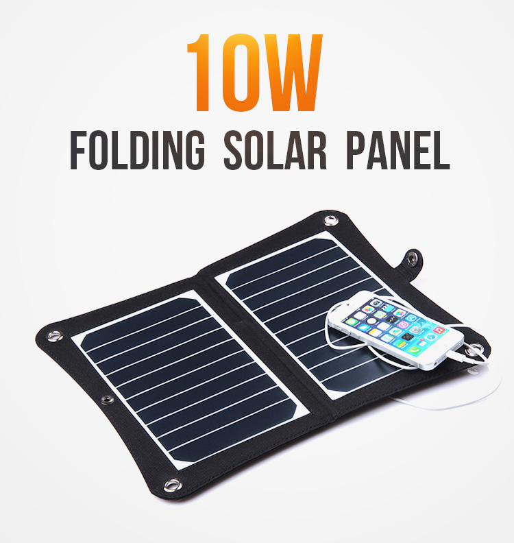 Folding Solar Panel Charger 10w 15w  USB  charger for phones etc