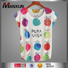 Bulk Wholesale T Shirts Custom Women Cotton Tops Colorful Printing T Shirt