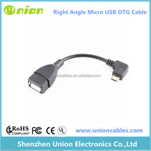 Right Angle Micro USB Host OTG Adapter Cable for Samsung Galaxy Tab 4 3 10.1 8.0