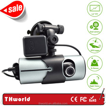 Promotion sale double camera hd dvr with hd 720p camera lens