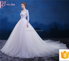 OEM Expensive Chapel Train Spanish Style Bridal Wedding Dresses Gowns With Straps