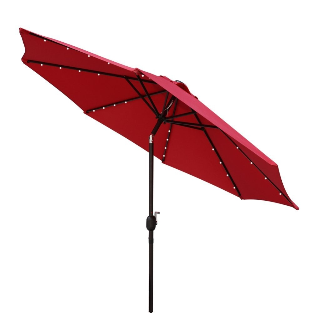 High quality solar led automatic outdoor umbrella offset for Terrace umbrella for sale