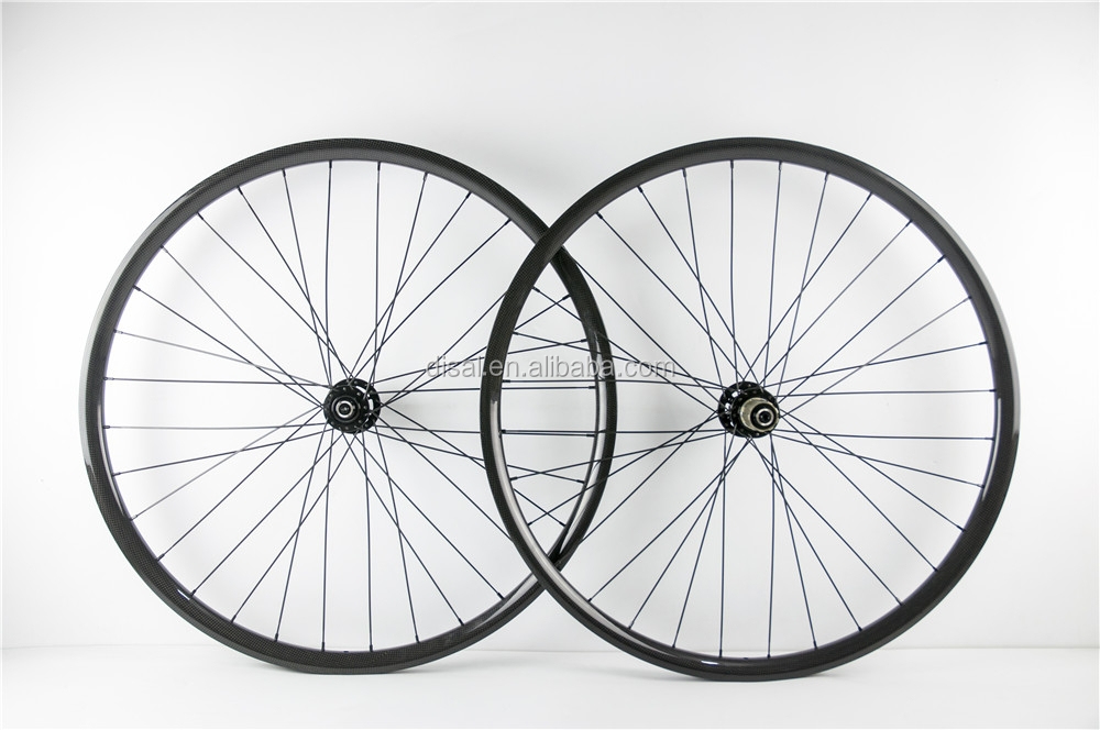 OEM 27.5 mtb wheels carbon 30mmx25mm bicycle clincher wheel 650B Mountain bike wheelset with 28H/28H 3K Matte
