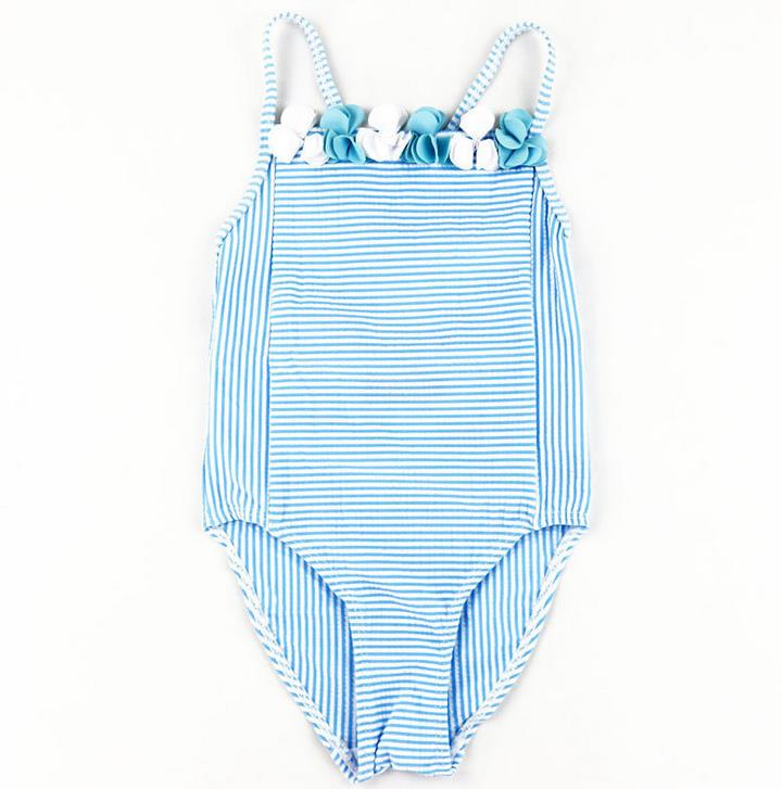 Wholesale Custom fashion kids one piece swimwear