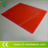 Thermal Insulation light weight red 6mm polycarbonate sheet