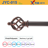 2015 new design copper curtain finial,fashion home decoration curtain rod set