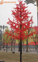 4752 led H: 4.5m cone shaped red led maple decoration lighted tree for park or street
