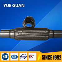 car exhaust flex pipe with extension tube with inner braid 2*8*12 inch