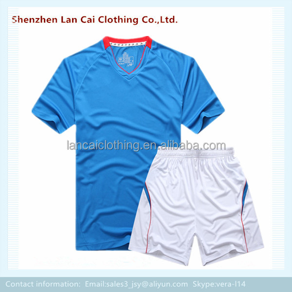 plain dye hot selling soccer uniform custom blank cheap soccer jersey