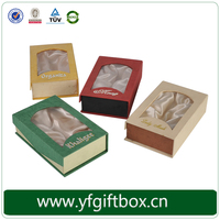 Custom wallet boxes recyclable rigid cardboard box wallet packaging box wholesale