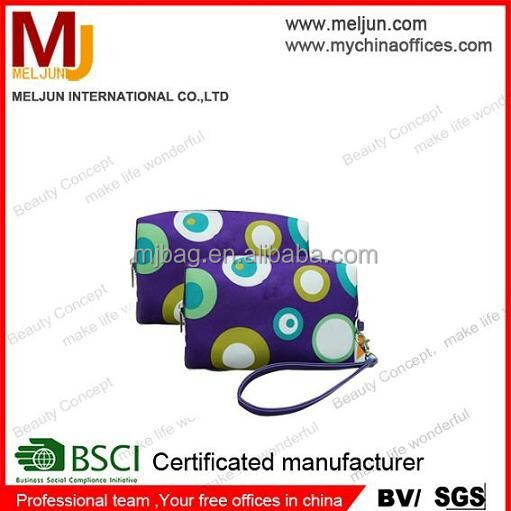 dotted patterns Multifunction cosmetic pouch mini shaving pouch hot sale cosmetic bag usa coin case