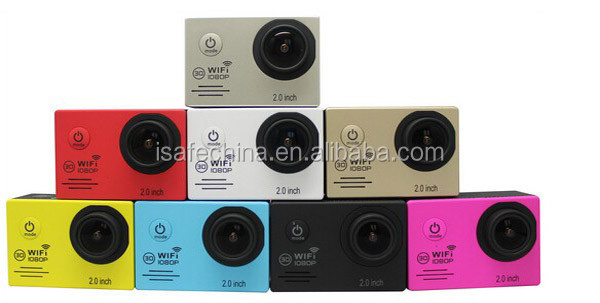 16 MP action Cameras Digital wifi Wireless Video Camera Wateproof 30 m 2.0 inch 1080p Mini wireless action sport camera