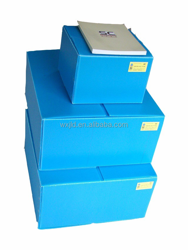 collapsible plastic pp corrugated packaging box
