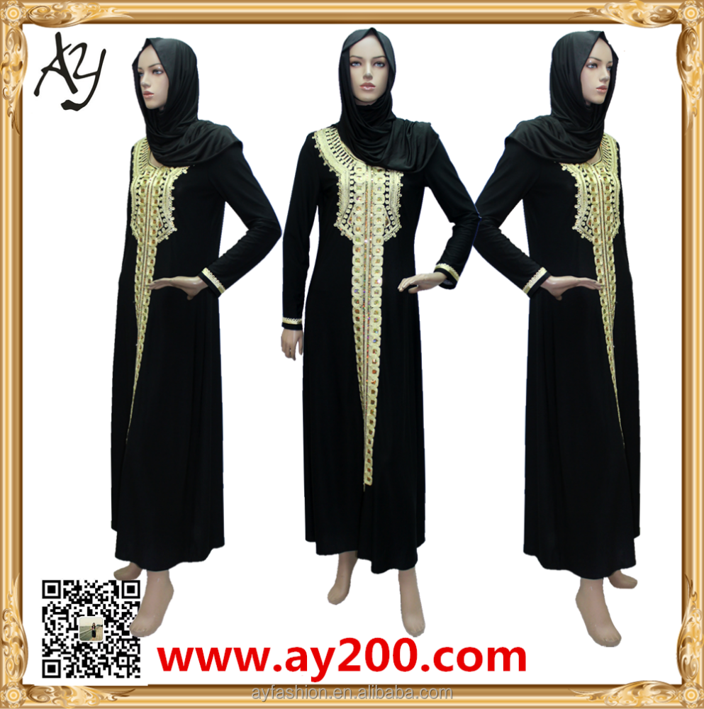Handwork Embroidery 2016 Fashion Women Dress Pakistani Dresses Abaya Moroccan Muslim Dress