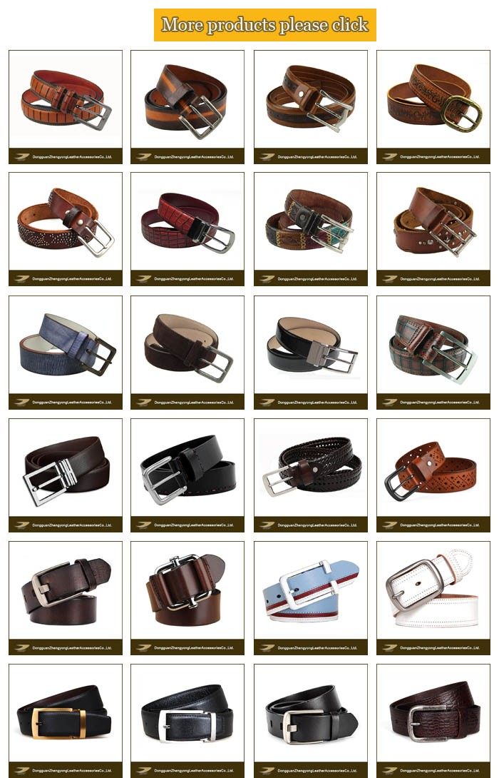 Leather belt oem wholesale high-grade vintage leather belt for men