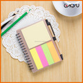 Customized Recycled Notebook with Ball Pen, eco-friendly notepad