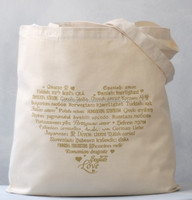 Heart shape pictured Cotton Bags