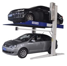 Double or two level 2 post hydraulic car parking lift