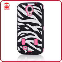 Black Hot Pink Hybrid Defender Zebra Case for Samsung Galaxy S4 i9500 S IV