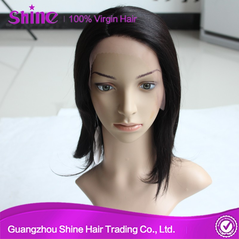 New arrival new design cheap price 100% unprocessed short human hair wig for black women