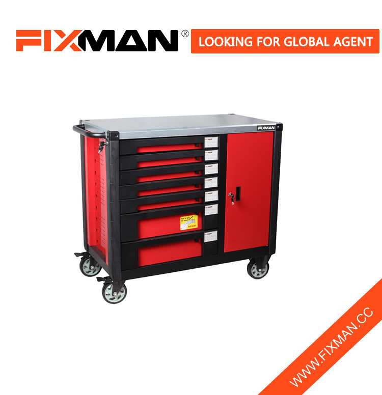 FIXMAN Best Garage Mobile Workbench With 7 Drawers In Garage