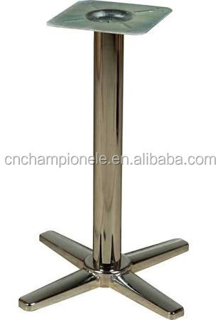 Indoor Standard Height Silver End Table Base /stainless steel brass table base MX6105