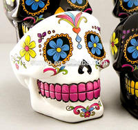 Special customized size popular skull shaped face ashtray high quality hand painting color unique design