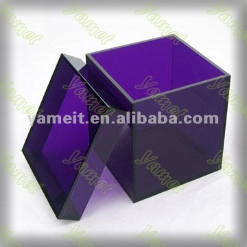 Violet Square small acrylic container box