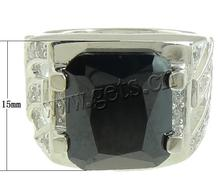 Wholesale square 925 sterling silver black stone ring for men