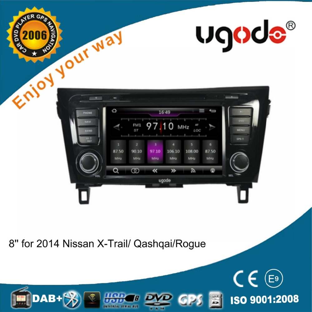 WinCE 6.0 Double din 8 inch car dvd gps for 2014 Nissan X-Trail/Qashqai/Rogue with canbus
